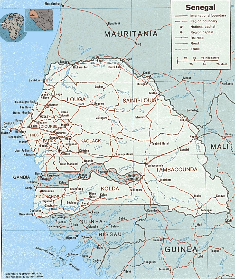 Senegal On Africa Map.Tourist Guide Senegal Map Capital Dakar Travel Africa