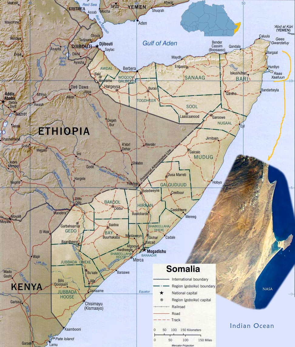 Tourist Guide Somalia Map Africa Capital Mogadishu