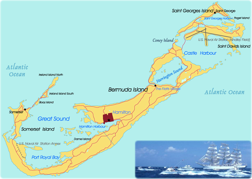 Bermuda Map Hamilton - Bermuda islands map