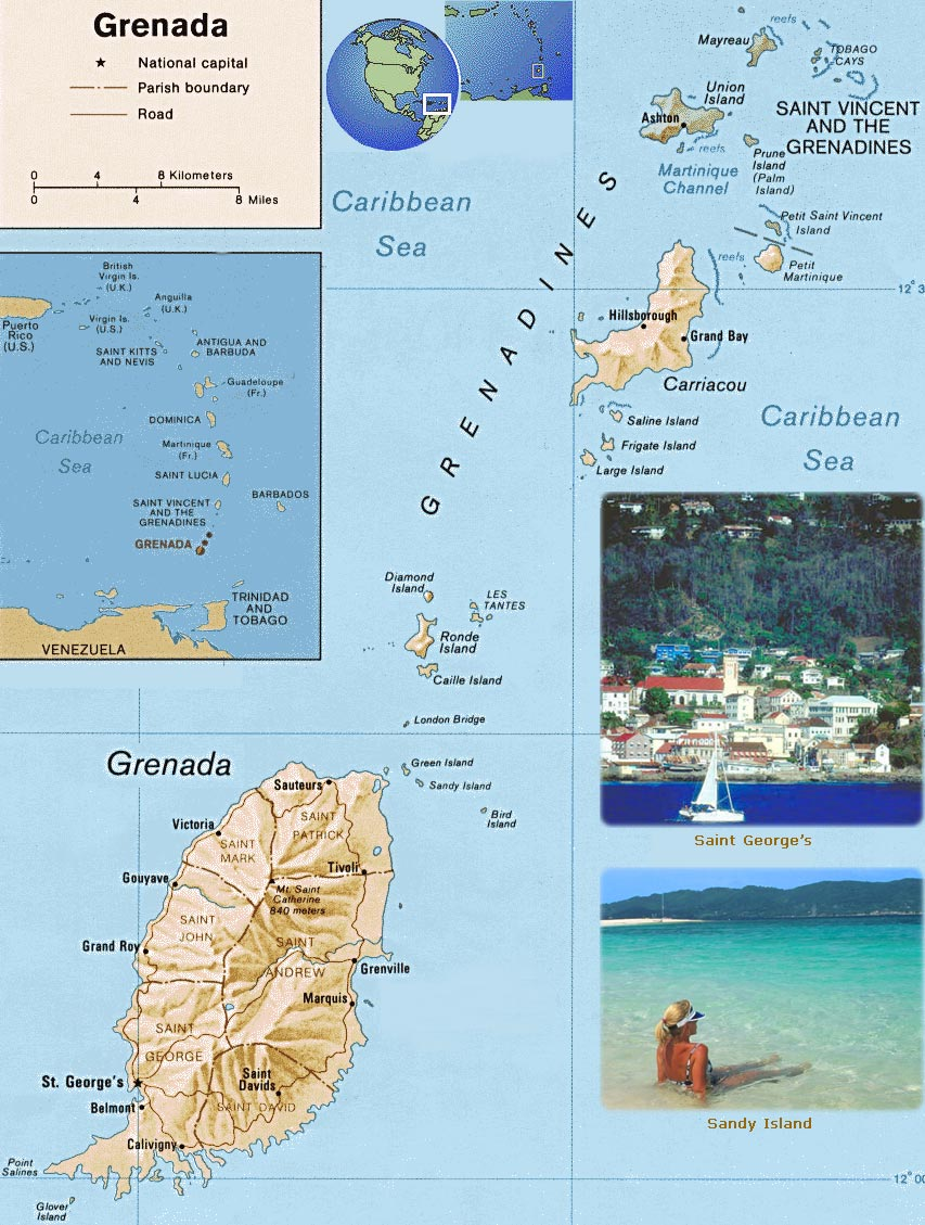 Grenada Map Saint Georges