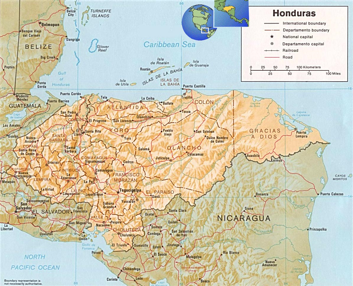 Honduras map tegucigalpa honduras map gumiabroncs Image collections