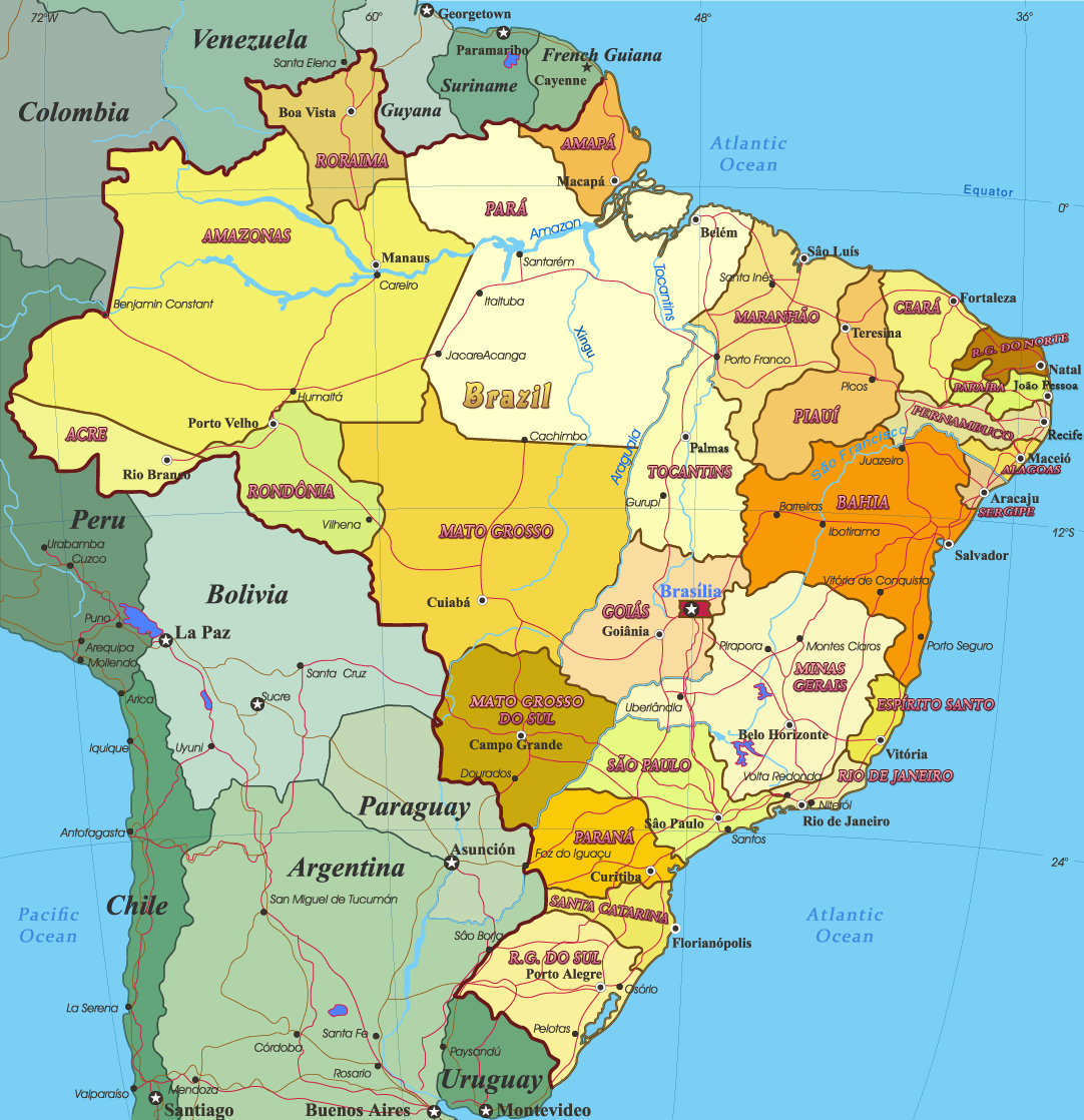 zil Map - South America Map Of Brzil on map of africa, map of eurpe, map of europe, map of brazil, map of greece,