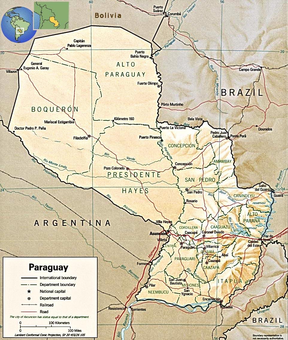Paraguay Map Asuncion