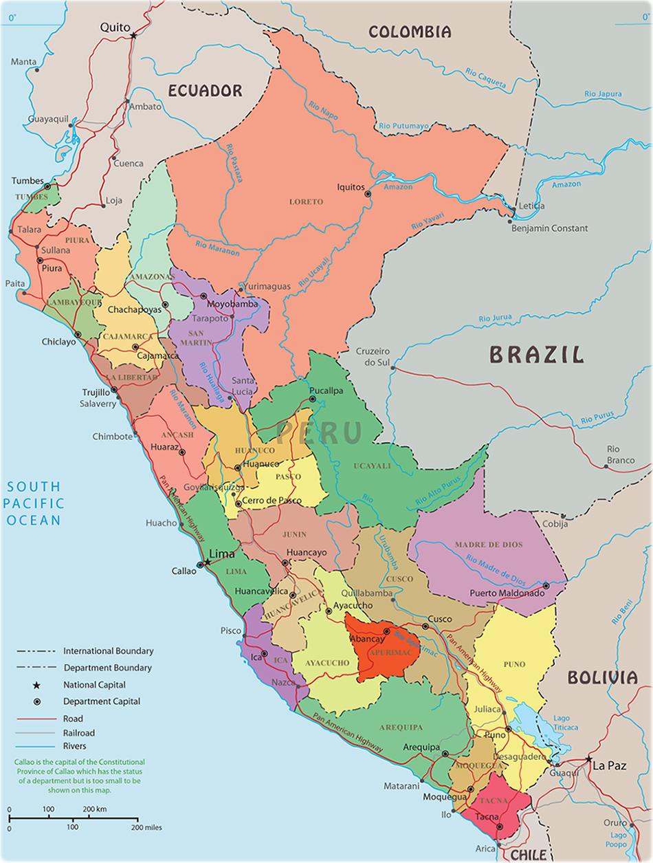 Image of: Peru Map Lima Machu Picchu