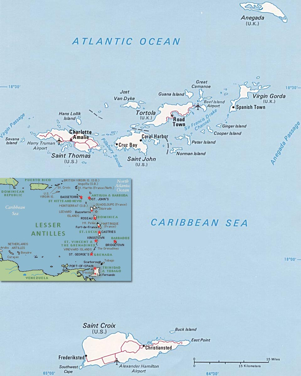 the virgin islands are located in the caribbean between the caribbean sea and the north atlantic ocean east of puerto rico the british virgin islands