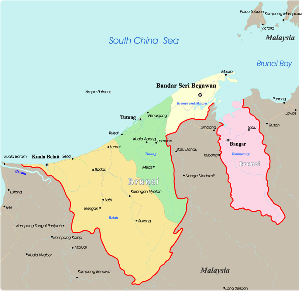 Brunei map bandar seri begawan map brunei gumiabroncs