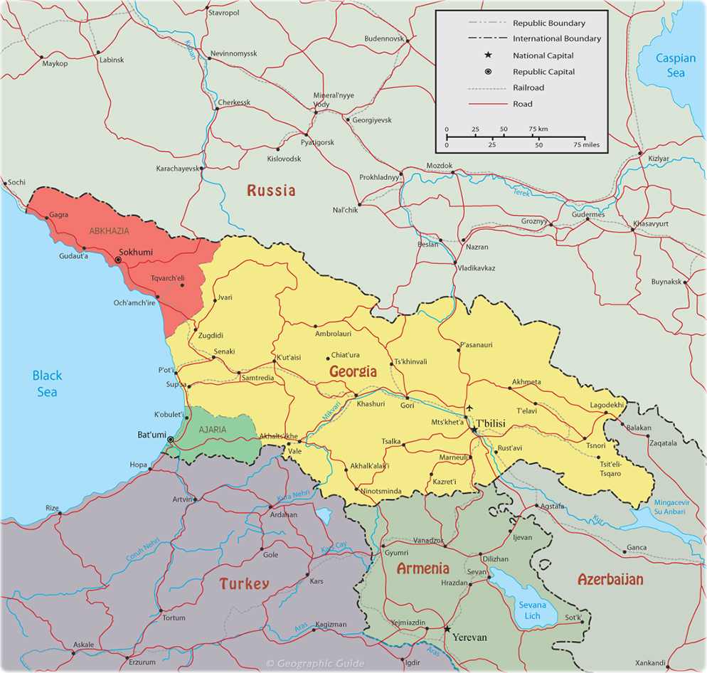 Georgia Map, T'bilisi