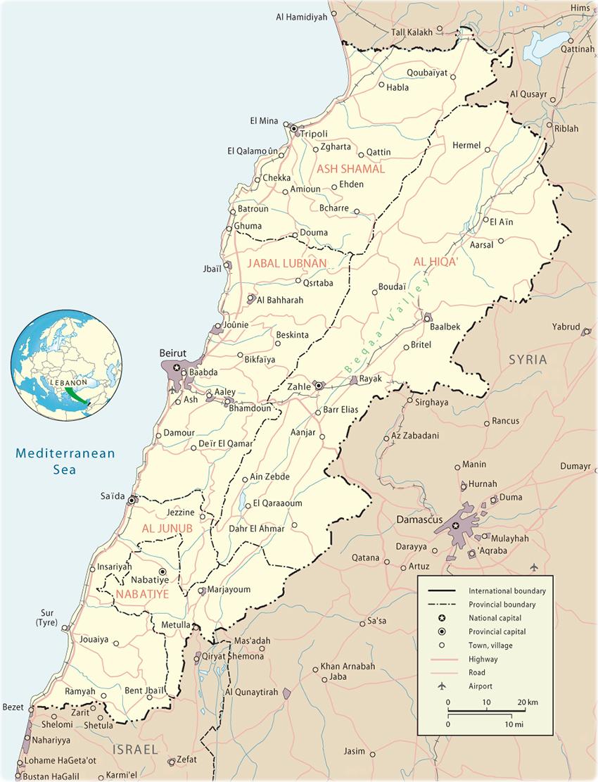 Map of Lebanon Map Lebanon on qatar map, united arab map, eastern mediterranean map, france map, egypt map, jordan map, israel map, dominican republic map, persian gulf map, asia map, italy map, jerusalem map, mediterranean sea map, cyprus on map, mideast map, holy land map, iraq map, turkey map, syria map, saudi arabia map,