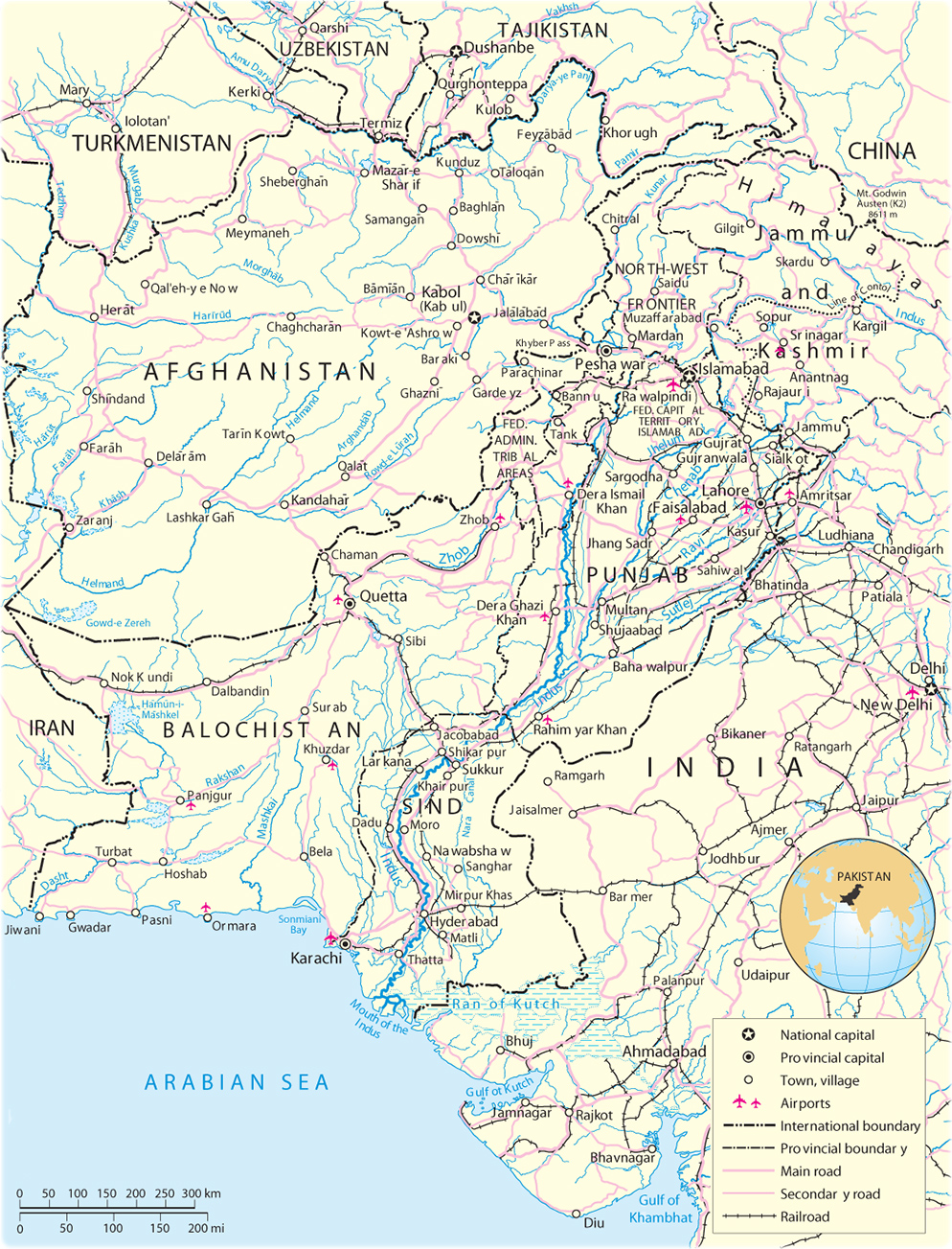 Map Of Asia In Urdu 10