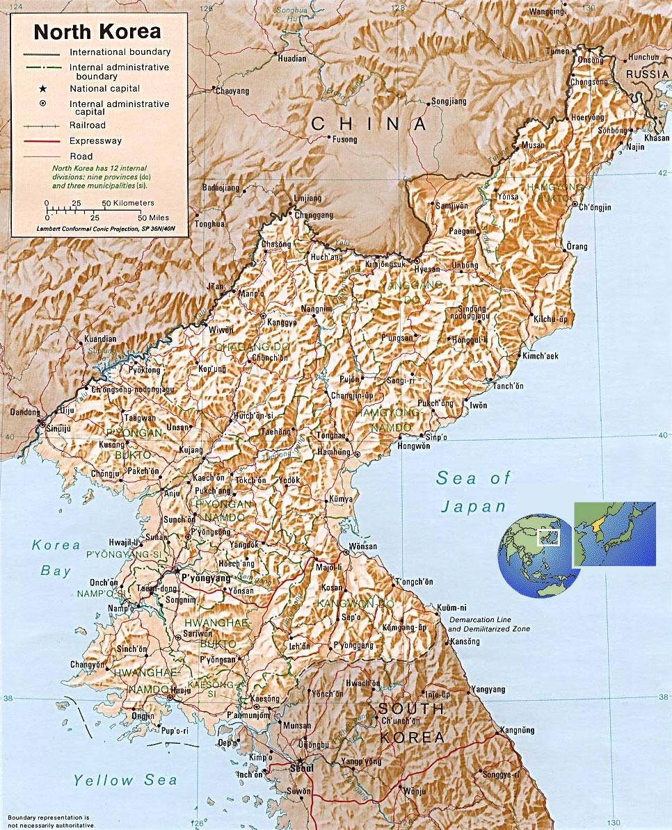 North Korea Map Pyongyang