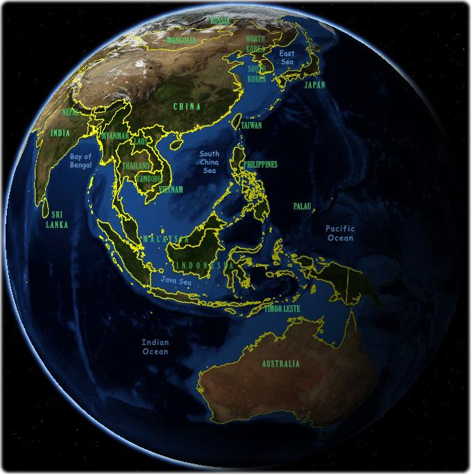 Asia Satellite Images - Asia satellite map