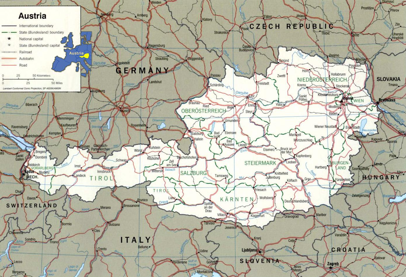 Austria - Austria map