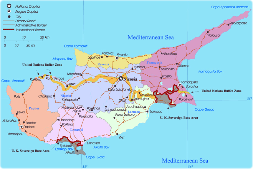 map of cyprus in europe Map Cyprus