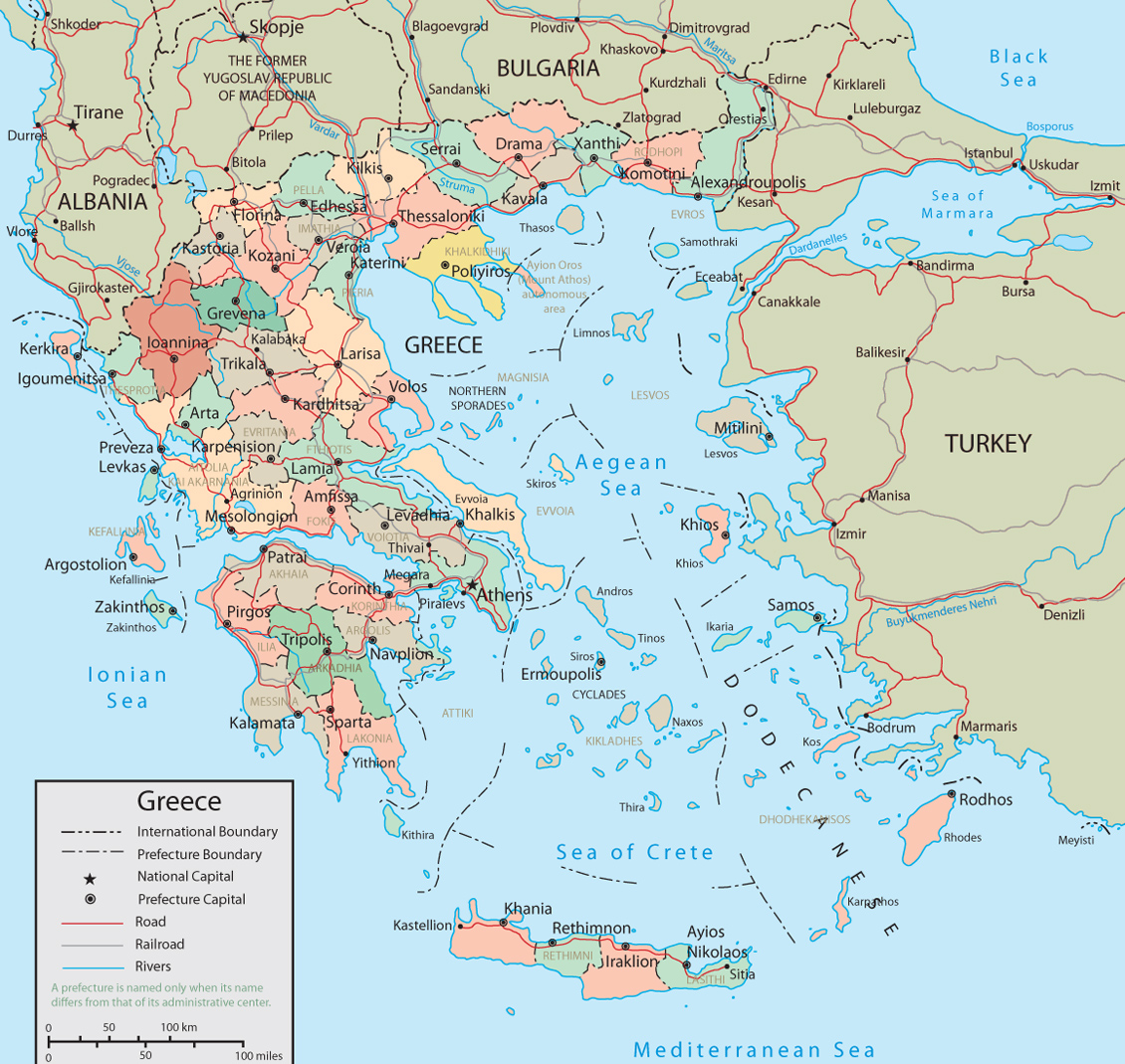 Greece Map - Travel on