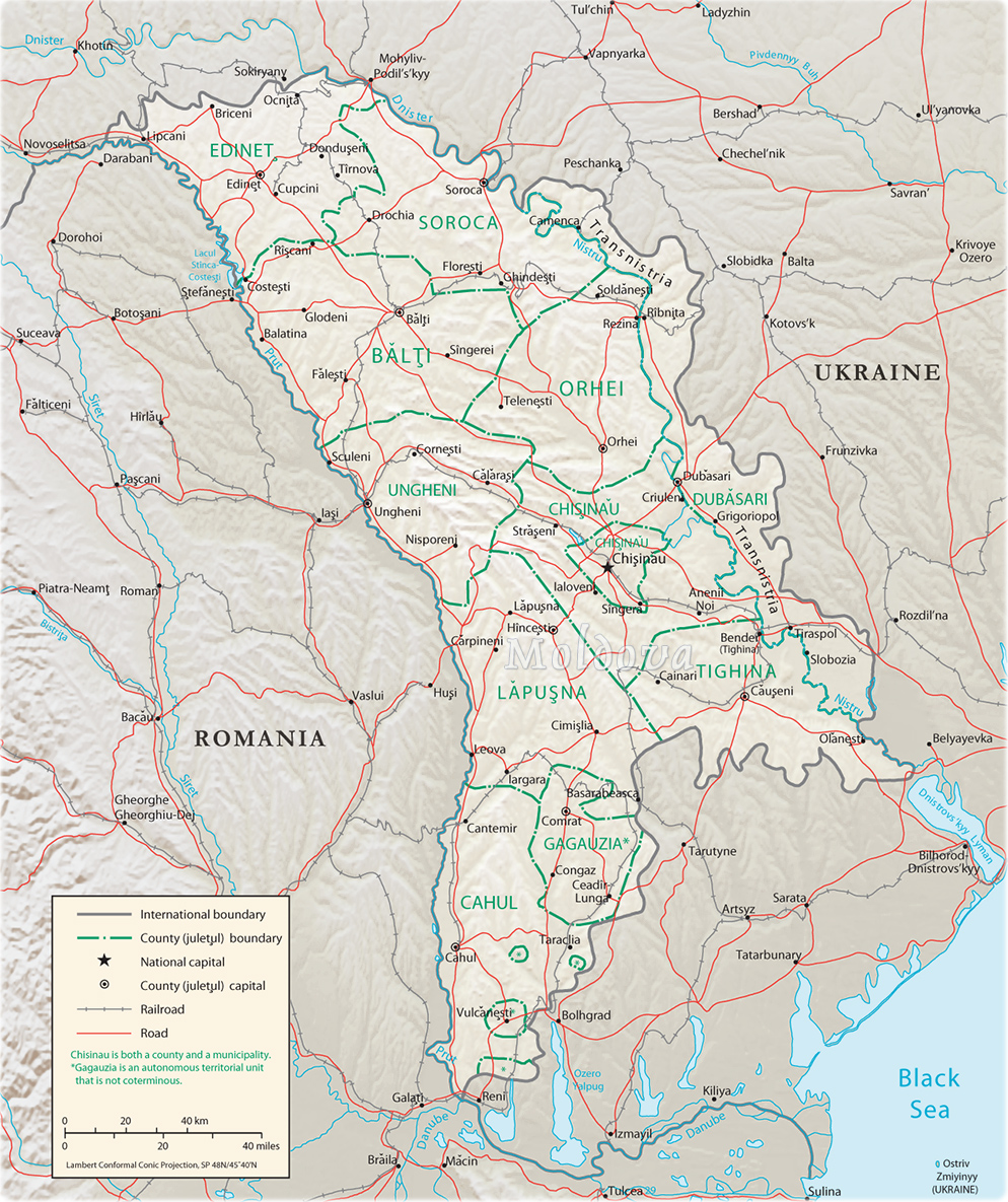 Map Moldova