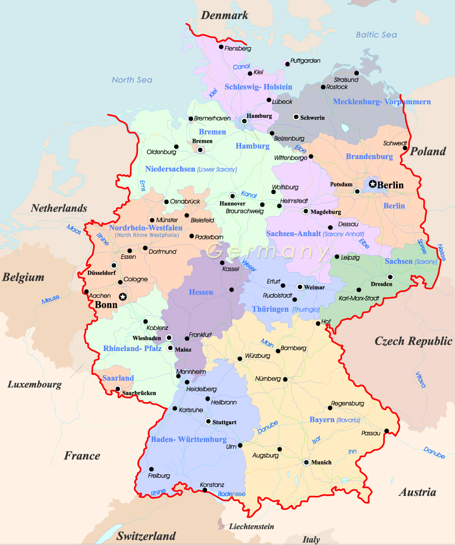 Germany Map Travel - Germany map bremen