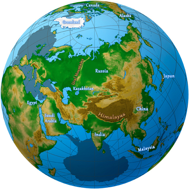 The Continent Of Asia Map.Asia Maps Images