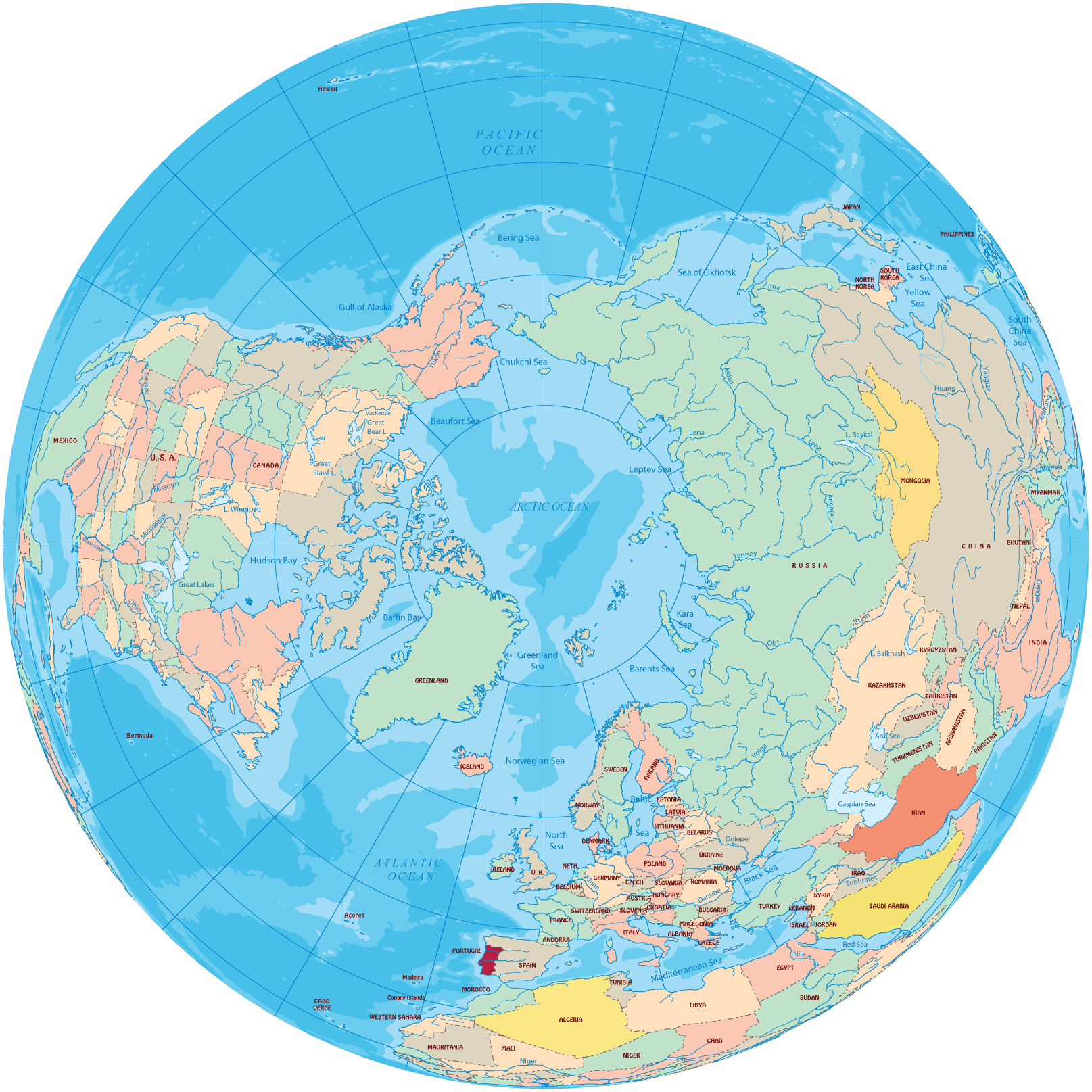 Arctic map north pole north pole world maps gumiabroncs Choice Image