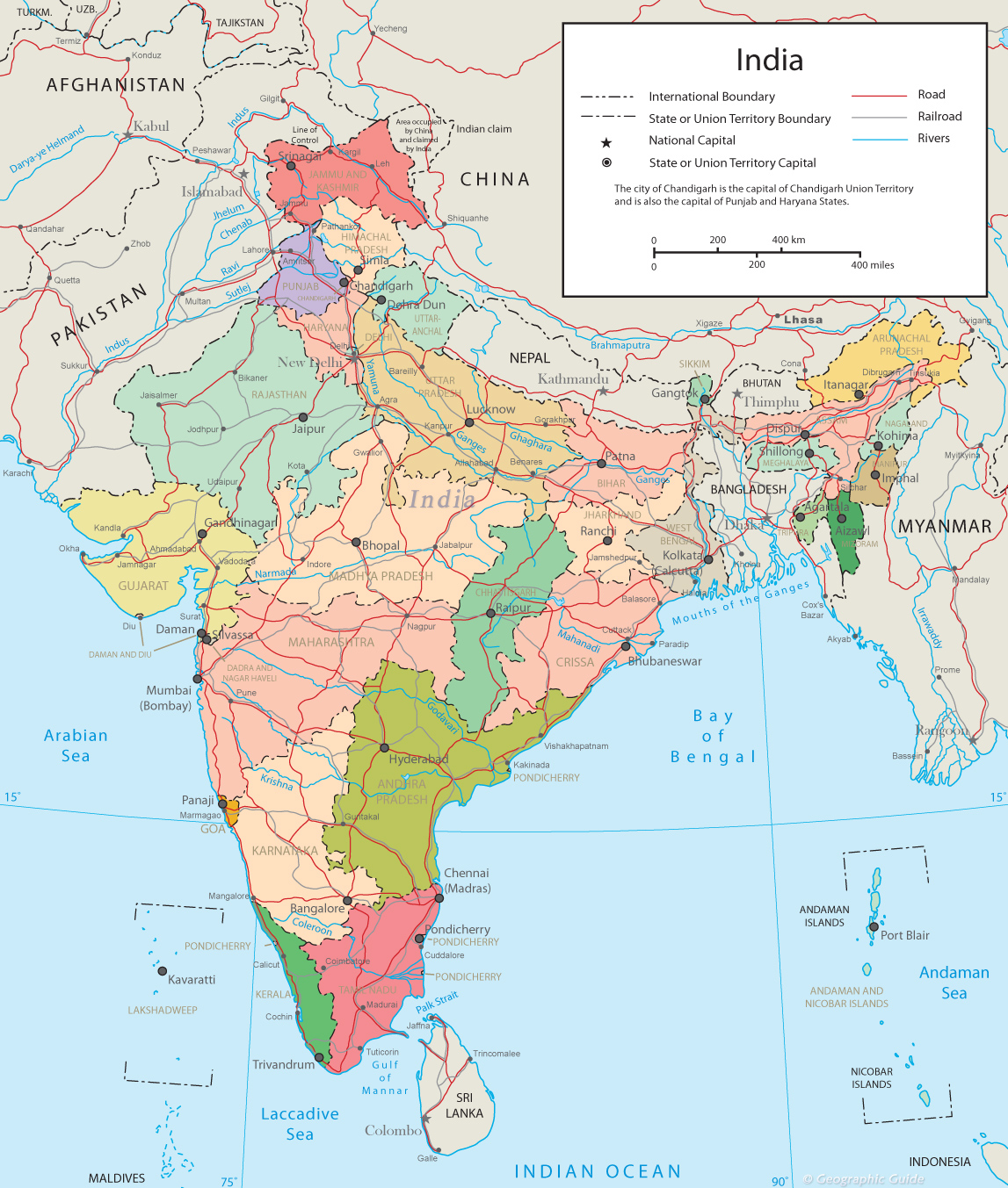 India political map new delhi political map india gumiabroncs Choice Image