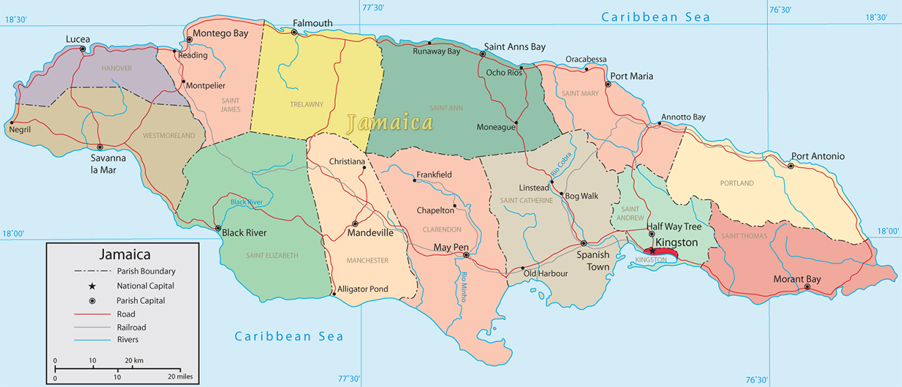 countries in the caribbean sea kingston hal way tree and morant bay port maria an saint thomas